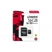 KINGSTON Micro SD 16Gb +Adap. Clase10 (SDCS/16GB)