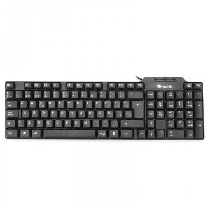 Keyboard NGS USB 104 keys Black (FUNKY)