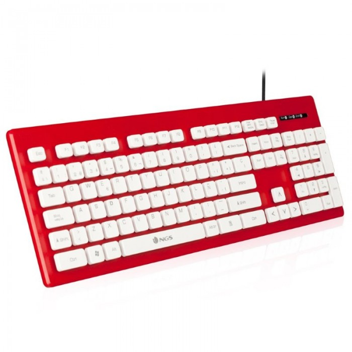 Keyboard NGS USB 104 Keys Red (CLIPPER RED)