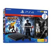 Consola PS4 Slim 1Tb+R&C+The Last of Us+Unchar4+NBA2K19
