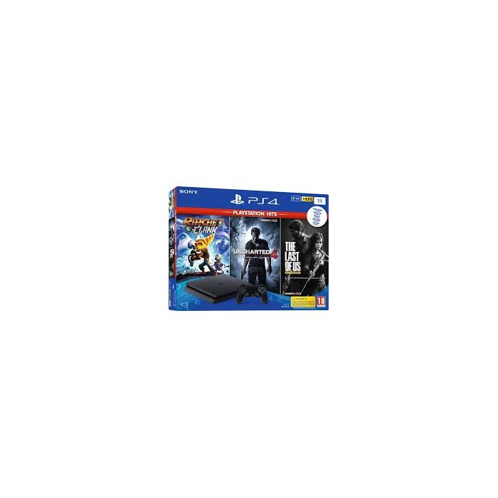 Consola PS4 Slim 1Tb+R&C+TLOU+UC4+Red Dead Redemption 2