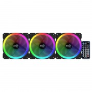 Ventilador AEROCOOL Orbit 12x12 KIT 3unid.(Orbit RC)