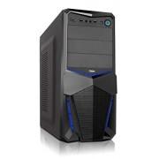 Semitorre ATX NOX sin fuente audio HD USB3 Negro(NXPAX)