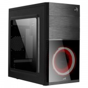 Case AEROCOOL mATX CS-105 rojo/Black (CS105RD)