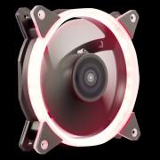 Ventilador 12x12 UNYKA Candy 20 LED Ring Rojo (51796)