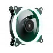 Ventilador 12x12 UNYKA Candy 20 LED Ring Verde (51799)