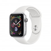 Apple Watch S4 44mm silver / Sport White (MU6A2TY/A)