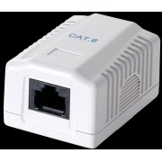 EQUIP Roseta de Superficie Cat.6 1Hembra RJ45 (EQ235211