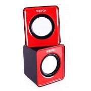 Altavoces APPROX Multimedia 2.0 5W Rojo (APPSPX1R)
