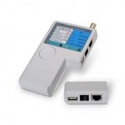 Nanocable TESTER RJ11/RJ12/RJ45 USB Coaxial(10.31.0302)