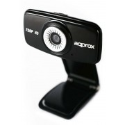 WebCam APPROX HD720p Negro USB 2.0 (APPWC03HD)