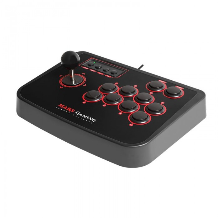 Stick Mars Gaming 8botones con Switch H-Mecanico (MRA)