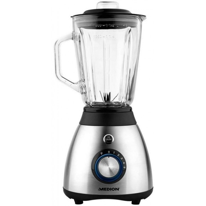 Glass Mixer Medion 600W 1.5L Stainless Steel. (17977)