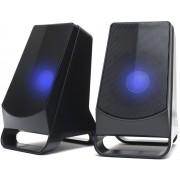 Altavoces NGS Multimedia 2.0 10w USB Led Azul (GSX-205)