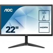 "Monitor AOC LED 22""(21.5) FullHD HDMI/VGA 5ms (22B1H)"