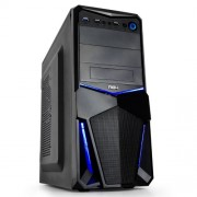 Semitorre ATX NOX S/Fuente audio HD USB3 Azul (NXPAX)