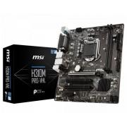 MSI H310M PRO-VHL: (1151) 2DDR4 VGA HDMI mATX