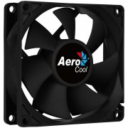 Fan AEROCOOL Force 8 cm Black (FORCE8BK)