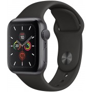 Apple Watch S5 40mm GPS Gris/Sport Negro (MWV82TY/A)