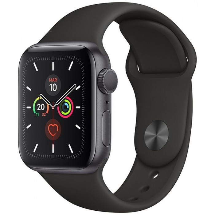 Apple Watch S5 44mm GPS Gris/Sport Negro (MWVF2TY/A)