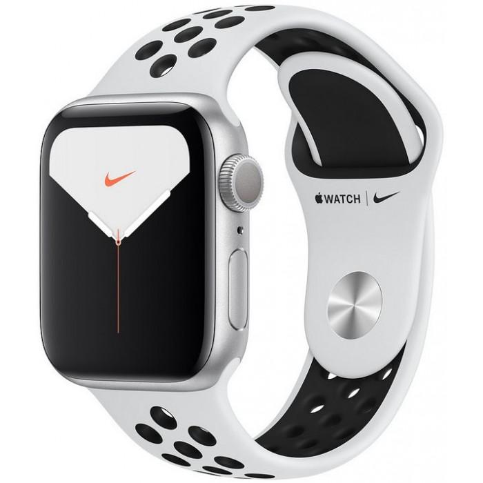 Apple Watch S5 44mm GPS Platino/Sport Negro (MX3V2TY/A)