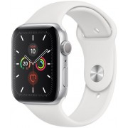Apple Watch S5 44mm GPS Plata/Sport Blanco (MWVD2TY/A)