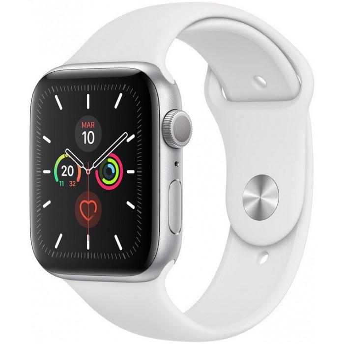 Apple Watch S5 44mm GPS Plata/Sport Blanco (MWVD2TY/A)