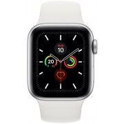 Apple Watch S5 40mm Cell Plata/Sport Blanco (MWX12TY/A)