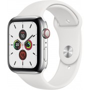 Apple Watch S5 40mm Cell Acero/Sport Blanco (MWX42TY/A)