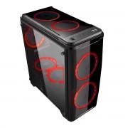 MiniCase ARMOR C20 mATX Gaming 1xUSB Black (511204)