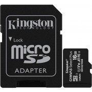 KINGSTON Micro SD HC Canvas 16Gb + Adaptor (SDCS2/16GB)