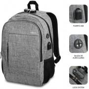 "Backpack SUBBLIM Urban Lock 16"" Grey (BP-1UL0001)"