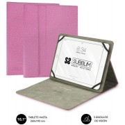 """Cover SUBBLIM Clear Stand 10.1"""" Rosa (CUT-1CT003)"""