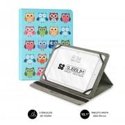 """Cover SUBBLIM Trendy Owls 10.1"""" 360º (CUT-4TC003)"""