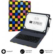 "Cover Teclado SUBBLIM Squares 10.1"" Usb-C (KT1-USB051)"
