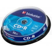CD-R Verbatim 52x 700Mb Spindle 10 (43437)