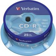 CD-R Verbatim 52x 700Mb Spindle 25 (43432)