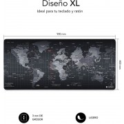 Mousepad SUBBLIM World XL 90x40 Black (01PUW01)