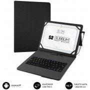 "Case with Keyboard SUBBLIM 10.1"" Usb Black (KT1-USB001)"