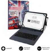 "Case with Keyboard SUBBLIM 10.1"" Usb England (KT1-USB050)"