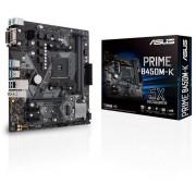 ASUS PRIME B450M-K II:(AM4) 2DDR4 VGA DVI mATX
