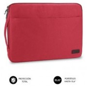"Sleeve SUBBLIM Urban Laptop Sleeve 15.6"" Red (LS-0PS0103)"