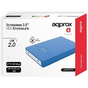 "HDD Enclosure APPROX 2.5"" Sata USB3 Blue (APPHDD10LB)"