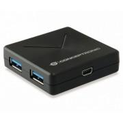HUB CONCEPTRONIC 4puertos USB3.0 Black (HUBBIES02B)