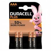Batteries AAA Duracell Plus Power LR03 1.5V Pack 4