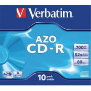 CD-R VERBATIM 52X 700Mb Pack 10 (43327)