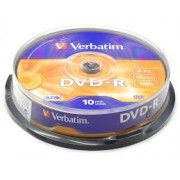 DVD-R VERBATIM 16X 4.7Gb Spindle 10 (43523)