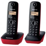 Panasonic Duo Cordless phone Red (KX-TG1612SPR)