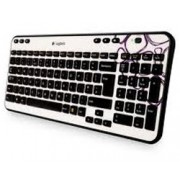 Teclado Logitech K360 Ingles Wifi Purple (920-003277)