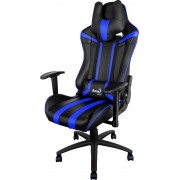 Silla AEROCOOL Gaming Negro/azul reclinable (AC120BB)